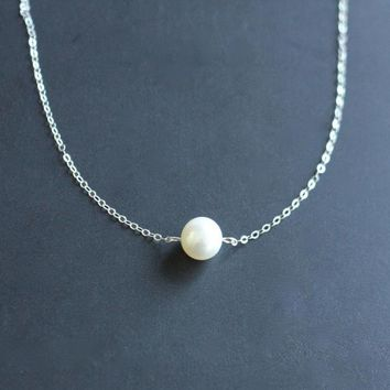 Freshwater Pearl Necklace Sterling .. on Luulla