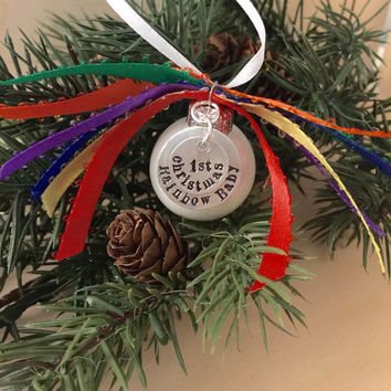 Rainbow Baby Ornament, Christmas Ornament, 1st Christmas, Miscarriage Stillbirth, Mini Ornament, Holiday Ornament