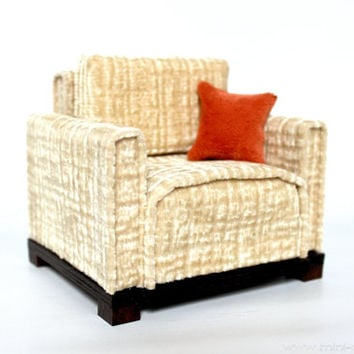 1/6 scale Armchair for dolls (Blythe, Barbie, Bratz, Momoko, etc.). Modern style