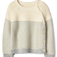 Stripe garter button sweater | Gap