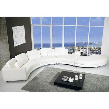 Newest 8-Seats Rich White Modern Sectional Sofa