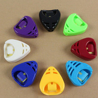Plactic Guitar Pick Plectrum Holder Case Box Mixed Colours Holder Portable 3C