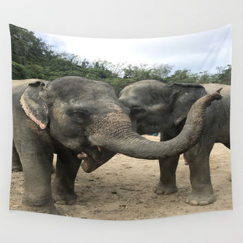 Elephants Wall Tapestry by nataliebobatalie