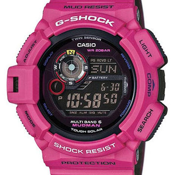 Casio Mens G-Shock Mudman - Pink - Solar - Atomic - Mud & Water Resistant