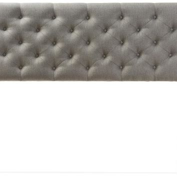 Baxton Studio Viviana Modern and Contemporary Grey Fabric Upholstered Button-tufted Full Size Headboard  Set of 1