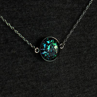 Fragmentation - Sterling Silver Necklace - Silver Choker - Science Jewelry - Galaxy Jewelry - Space Jewelry - Astronomy - Color Shifting