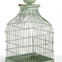 French Distressed Bird Cage