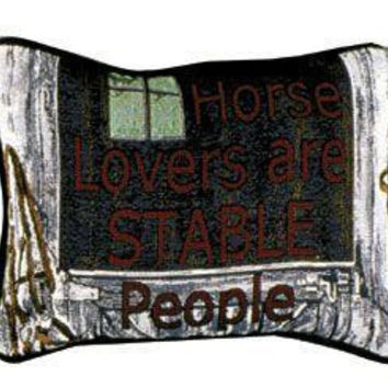 "2 Horse Lovers Throw Pillows -  "" Horse Lovers Are Stable People """
