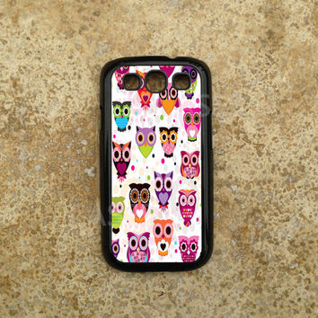 Galaxy S3 Cover - Custom Samsung Galaxy S3 Cases - Colorful Owls - Best Top Accessories for Samsung S iii - Hard Protective Case
