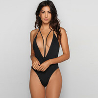 Solid colors female swimsuit