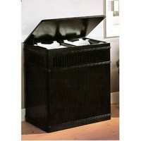 A.M.B. Furniture & Design :: Accessories :: Misc. Accessories :: Espresso finish wood laundry basket hamper with linen pull out liner