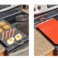 Griddle Stove Top Cooking Grill Large Kitchen Flat Top Surface Nonstick 2 Burner