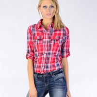 Plaid Button Up - Clothing