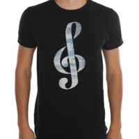 Clouds Treble Clef T-Shirt