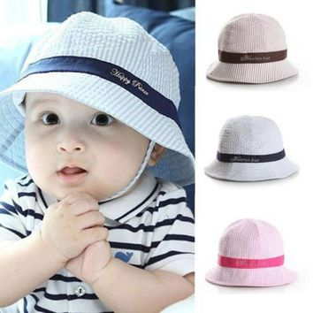 LMF78W 6-24Months Fashion Hot Toddler Baby Girl Boys Hat Infant Sun Cap Beach Bucket Hats Cute  PY12