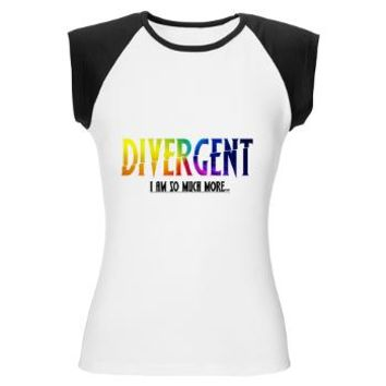 Divergent Colorful Women's Cap Sleeve T-Shirt> Divergent Colorful> Girl Tease