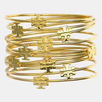 Tory Burch Logo Skinny Bangles (Set of 10) | Nordstrom