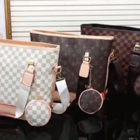 shosouvenir Louis Vuitton Women Fashion Leather Handbag Bag Cosmetic Bag Two Piece Set