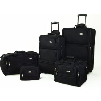5 Piece Nested Luggage Suitcase Set - 25 Inch, 20 Inch & More