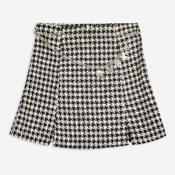 Houndstooth Charm Belt Mini Skirt | Topshop