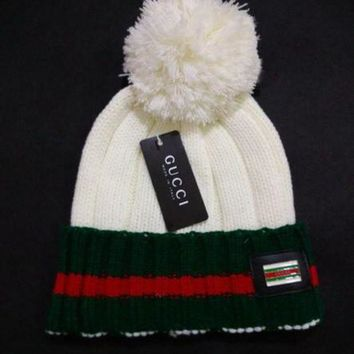 LMFON Tagre Perfect GUCCI Women Men Embroidery Beanies Knit Hat Warm Woolen Hat