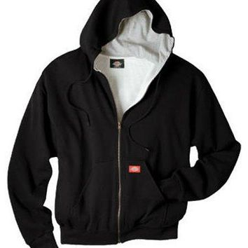 Dickies TW382BK2XL Men's Thermal Lined Hooded Fleece Jacket, 2X Large, Black