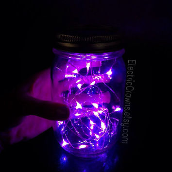 2 LED Fairy Lights, Firefly lights for mason jars. Looks like fireflies in a jar! Camping lights, Patio lights. Battery Operated. Outdoor.