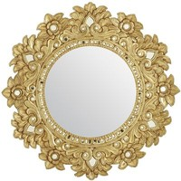Carved Floral Mirror