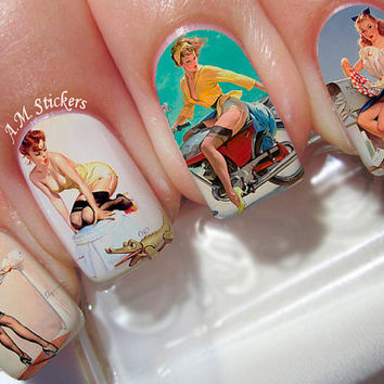 Pin Up Ladies Nail Decals