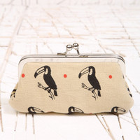 Kate Sheridan Dotty Tucan Print Purse at Urban Outfitters