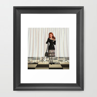Gothic Annie Bunny Dazed Framed Art Print by Apgme