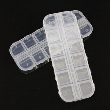 Transparent Storage Nail Art Plastic Box [6283909446]