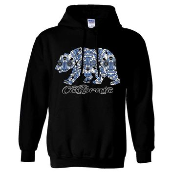 Blue California Republic Bear Sweatshirt Hoodie