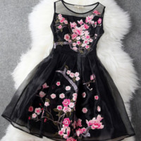 "Stunning ""Floral Spring"" Organza Lace Dress."