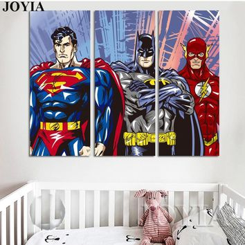 Batman Dark Knight gift Christmas Batman Superman Canvas Painting Justice League Superheroes Wall Art Cartoon Comic Pictures For Baby Kids Room Nursery Boy Decor AT_71_6