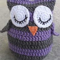 Purple and Grey Owl from Unique Creations by Tracy