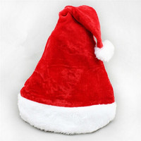 Christmas Hat Flannelette Plush Santa Claus Father Caps Xmas Costume Decoration Supplies New Year Gift