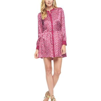 Petal Blush Raindrop Raindrop Chevron Silk Dress by Juicy Couture,