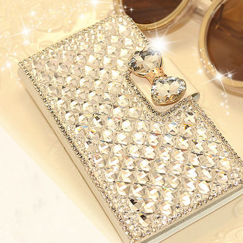 Luxury Bling Bling Rhinestone Diamond Phone Case Cover With Stands Holder For Samsung galaxy Note 4 Note 3 S4 S5 S3 S6 S6 Edge
