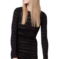 Topshop Sheer Stripe Body-Con Dress | Nordstrom