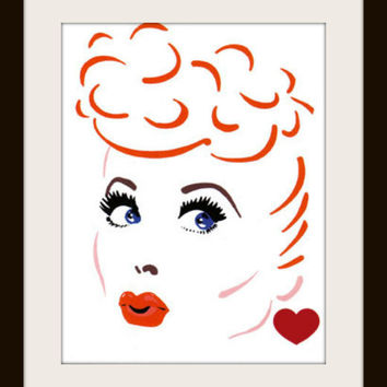 I Love Lucy Cross Stitch Pattern | Los Angeles Needlework
