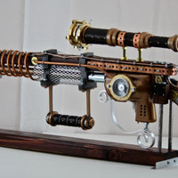 Steampunk super conductive ray emitting blast Rifle