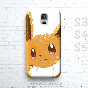 Pokemon EEVEE Inspired - Sweet Latte - Paint Splatter Samsung Galaxy S4 S5 Note 3 Case - iPhone 4 4s 5 5s 5c iPod Touch 5