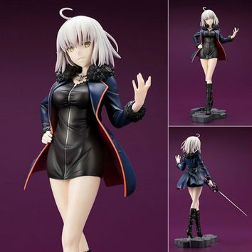 FateGrand Order Jeanne D'Arc Black Clothes With Sword Avenger PVC Action Toy Figures Japanese Anime Figure Collectible Figurines