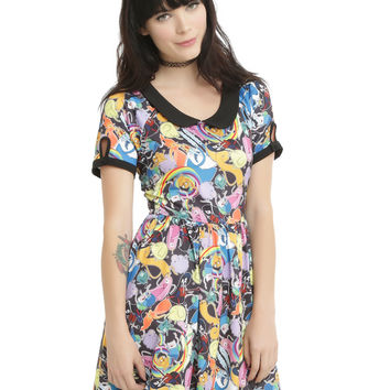 Cartoon Network Adventure Time Allover Print Dress