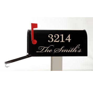 Mailbox Decal - Customized with your Name and Street Number