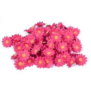 100pcs/lot  Artificial Flower Small Chrysanthemum Flower Head Gerbera Daisy DIY Artificial Flower For Wedding Home Decoration