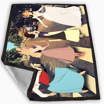 Disney Princess Cross The Abbey Road The Beatles Blanket for Kids Blanket, Fleece Blanket Cute and Awesome Blanket for your bedding, Blanket fleece *