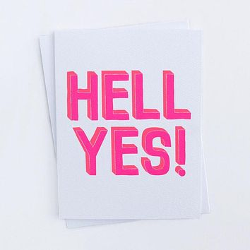 """Hell Yes"" Card"