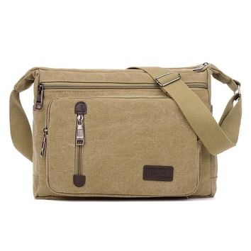 Boys bookbag trendy Men Bag Vintage Canvas Messenger Bags Male Casual Crossbody Shoulder Bag 2 Styles Business Travel Bags for Boy  Handbags AT_51_3